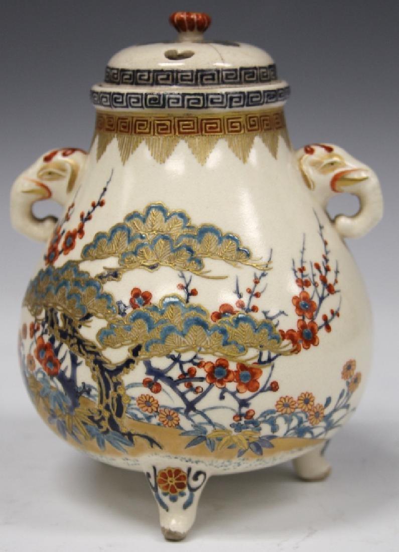 19TH C. JAPANESE KUTANI FOOTED CENSER