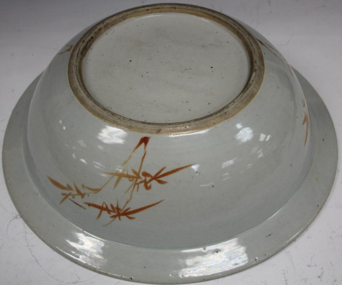 "CHINESE PORCELAIN PAINTED CENTER BOWL, 16"" D - 3"