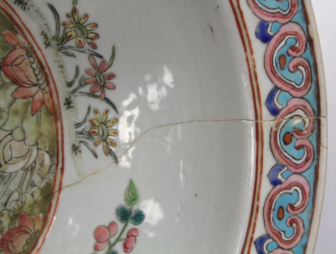 "CHINESE PORCELAIN PAINTED CENTER BOWL, 16"" D - 6"