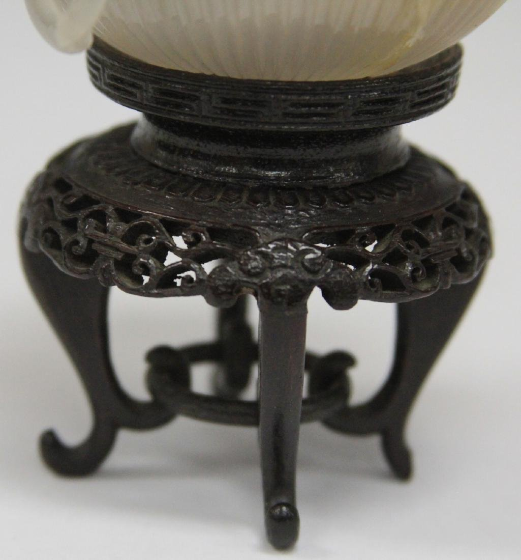 QING DYNASTY AGATE BOWL WITH STAND - 6