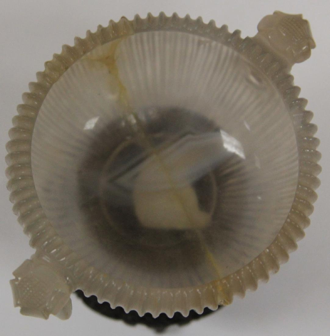 QING DYNASTY AGATE BOWL WITH STAND - 7