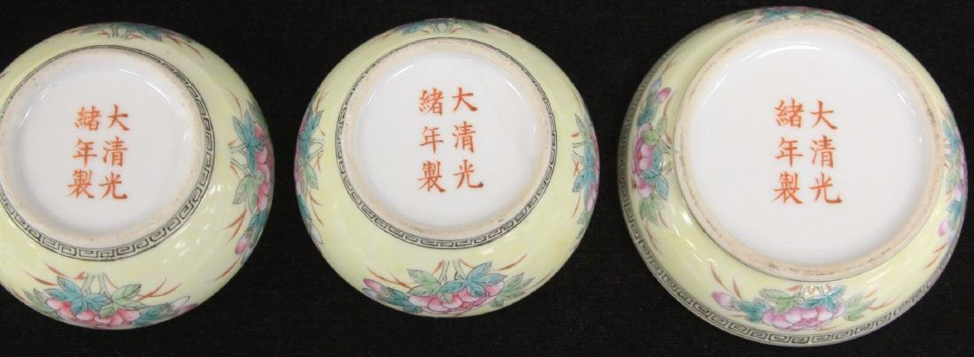 LOT OF (3) CHINESE PORCELAIN COVERED BOXES - 3