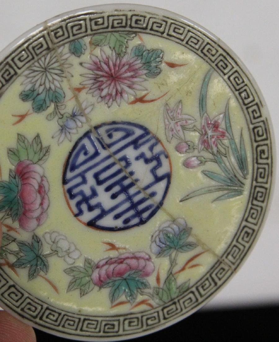 LOT OF (3) CHINESE PORCELAIN COVERED BOXES - 5