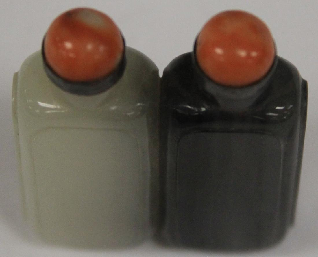 CHINESE CARVED JADE DOUBLE SNUFF BOTTLE - 4