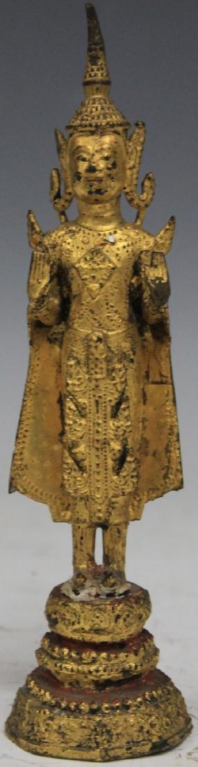 19TH C. THAI GILT METAL FIGURINE