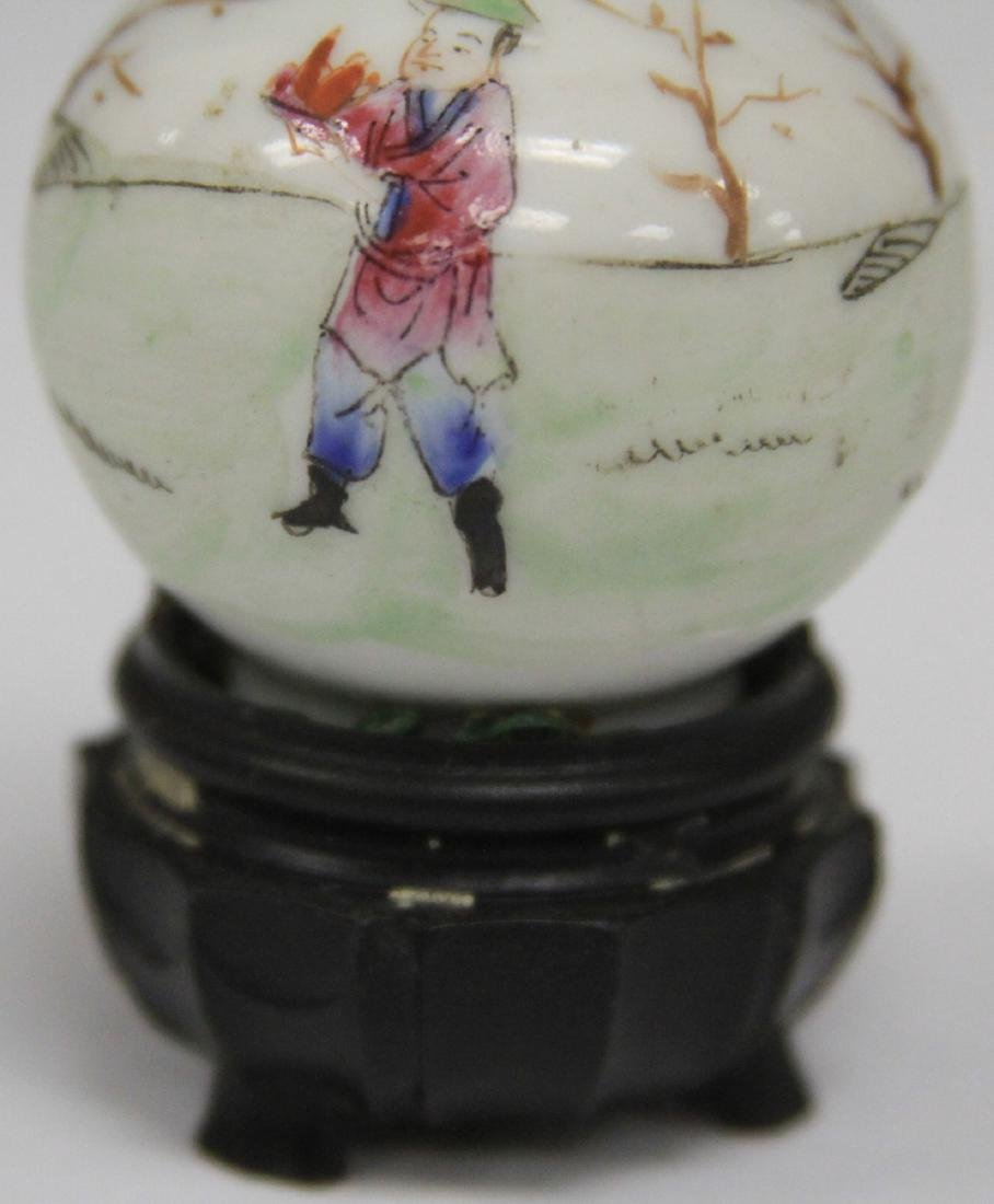 "REPUBLIC PERIOD PAINTED PORCELAIN VASE, 2 3/4"" H - 4"