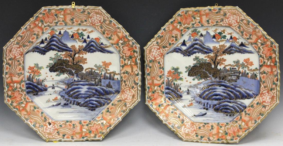PAIR OF 19TH C. JAPANESE PORCELAIN CHARGERS