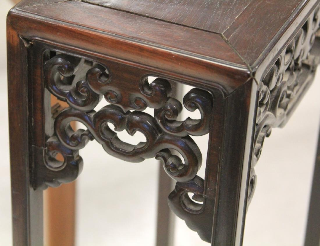 19TH C. VINTAGE CHINESE ROSEWOOD STAND - 2