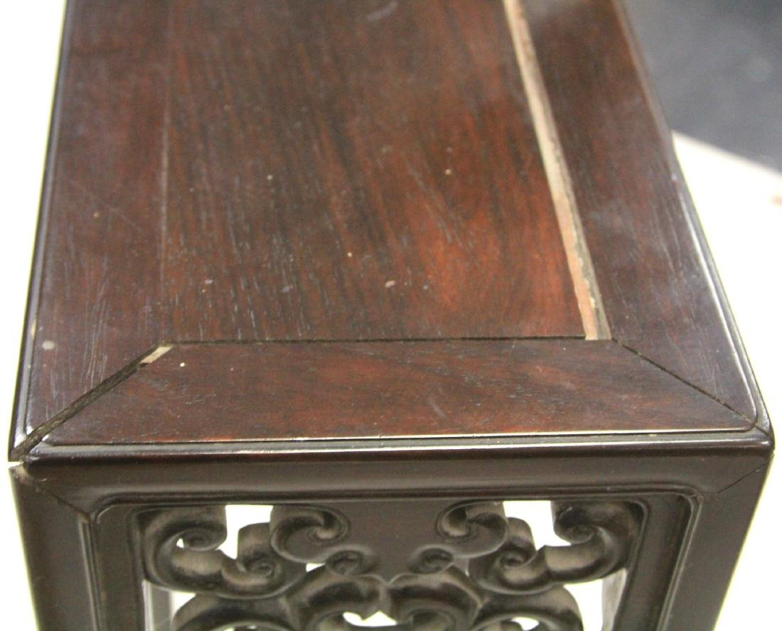 19TH C. VINTAGE CHINESE ROSEWOOD STAND - 3