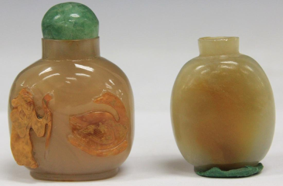 LOT OF (2) CHINESE QUARTZ SNUFF BOTTLES
