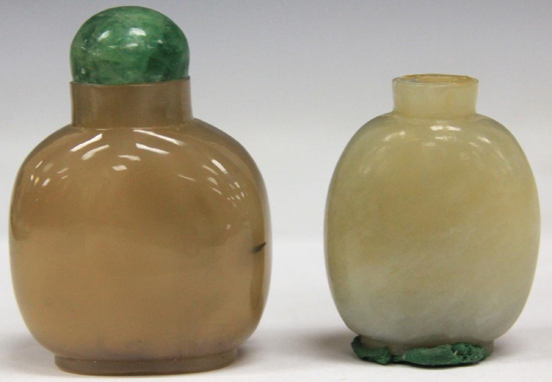 LOT OF (2) CHINESE QUARTZ SNUFF BOTTLES - 2