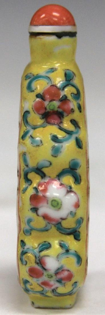 CHINESE DRAGON PAINTED PORCELAIN SNUFF BOTTLE - 3