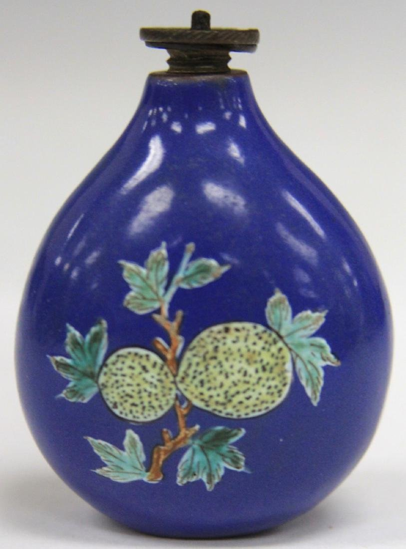 CHINESE BLUE PAINTED PORCELAIN SNUFF BOTTLE