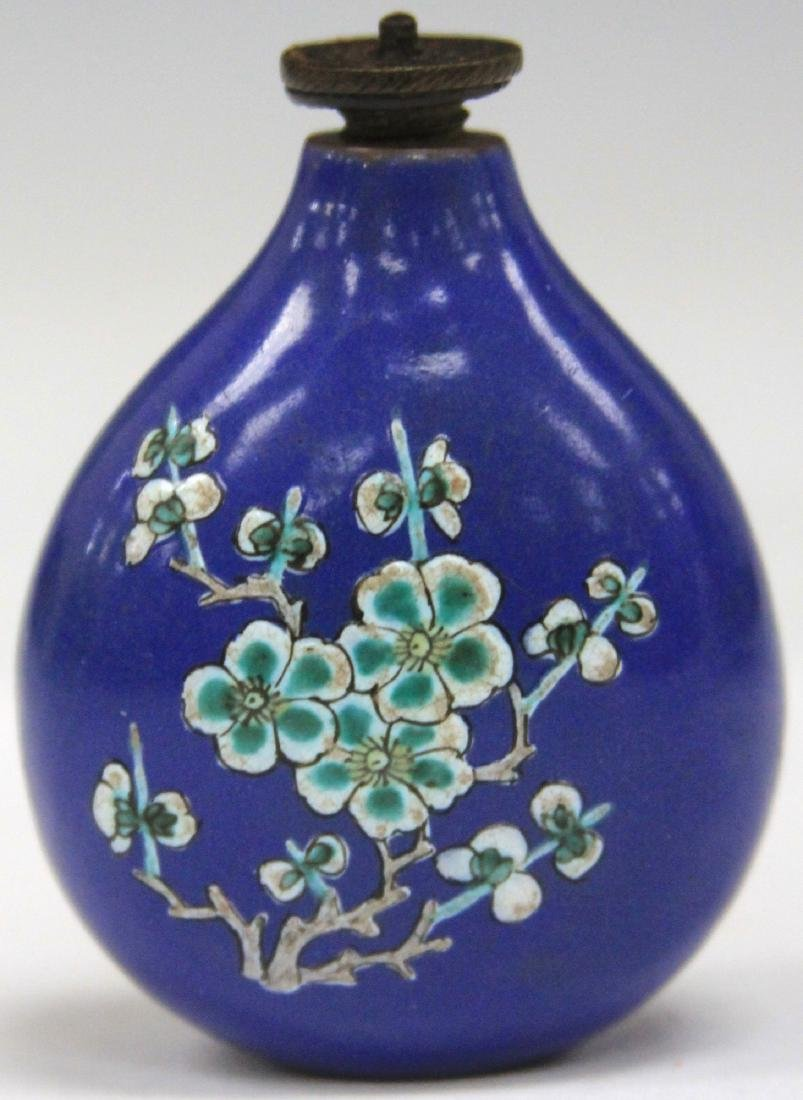 CHINESE BLUE PAINTED PORCELAIN SNUFF BOTTLE - 2