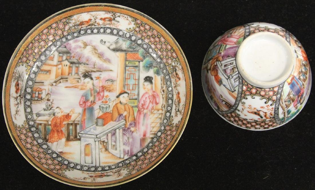 QING DYNASTY FINELY PAINTED PORCELAIN TEA CUP