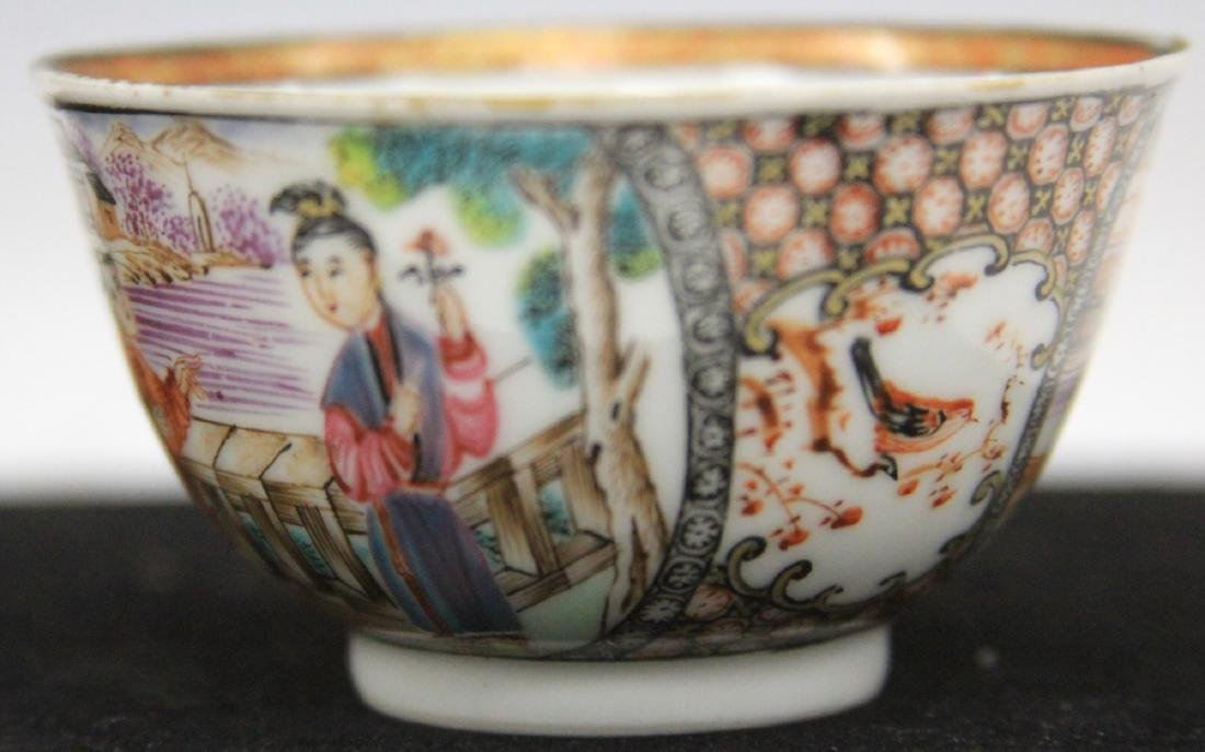 QING DYNASTY FINELY PAINTED PORCELAIN TEA CUP - 3