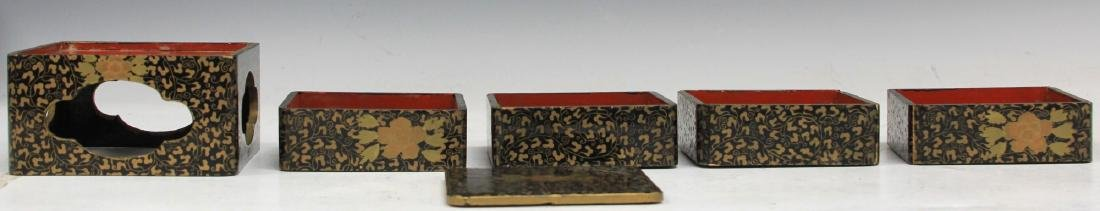 LOT OF (3) VINTAGE JAPANESE LACQUERED BOXES - 2
