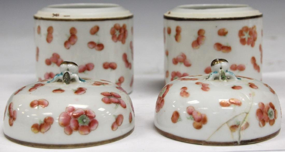 "PAIR OF LATE 19TH C. CHINESE PORCELAIN JARS, 4"" H - 2"