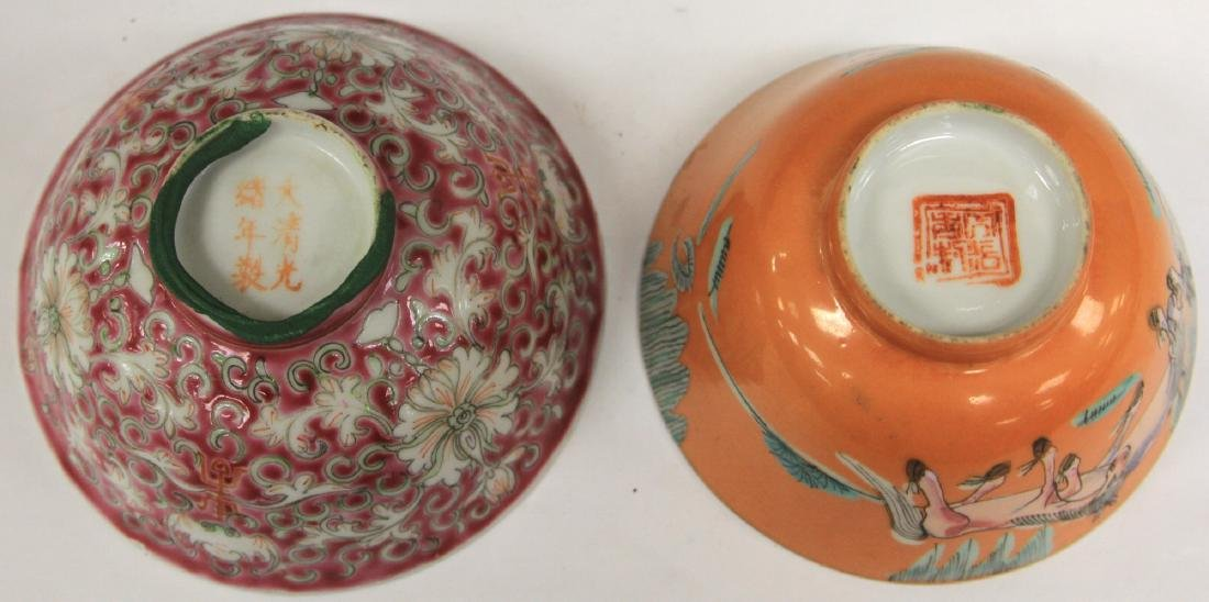 LOT OF (2) CHINESE PORCELAIN BOWLS - 4