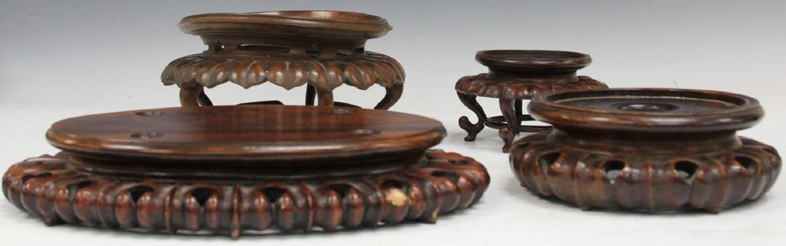 LOT OF (4) CHINESE CARVED WOOD STANDS