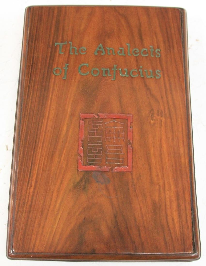 """THE ANALECTS OF CONFUCIUS"" BOOK W/ WOODEN BOX"