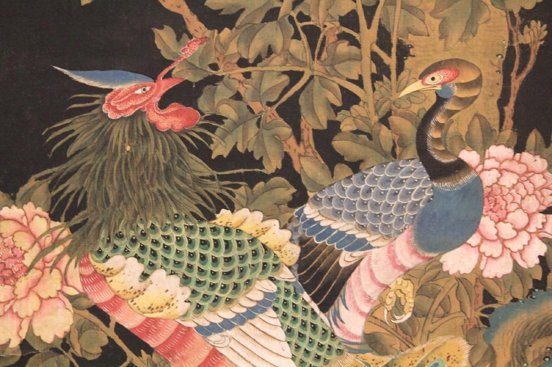 EARLY MING DYNASTY SCROLL PAINTING OF BIRDS - 2