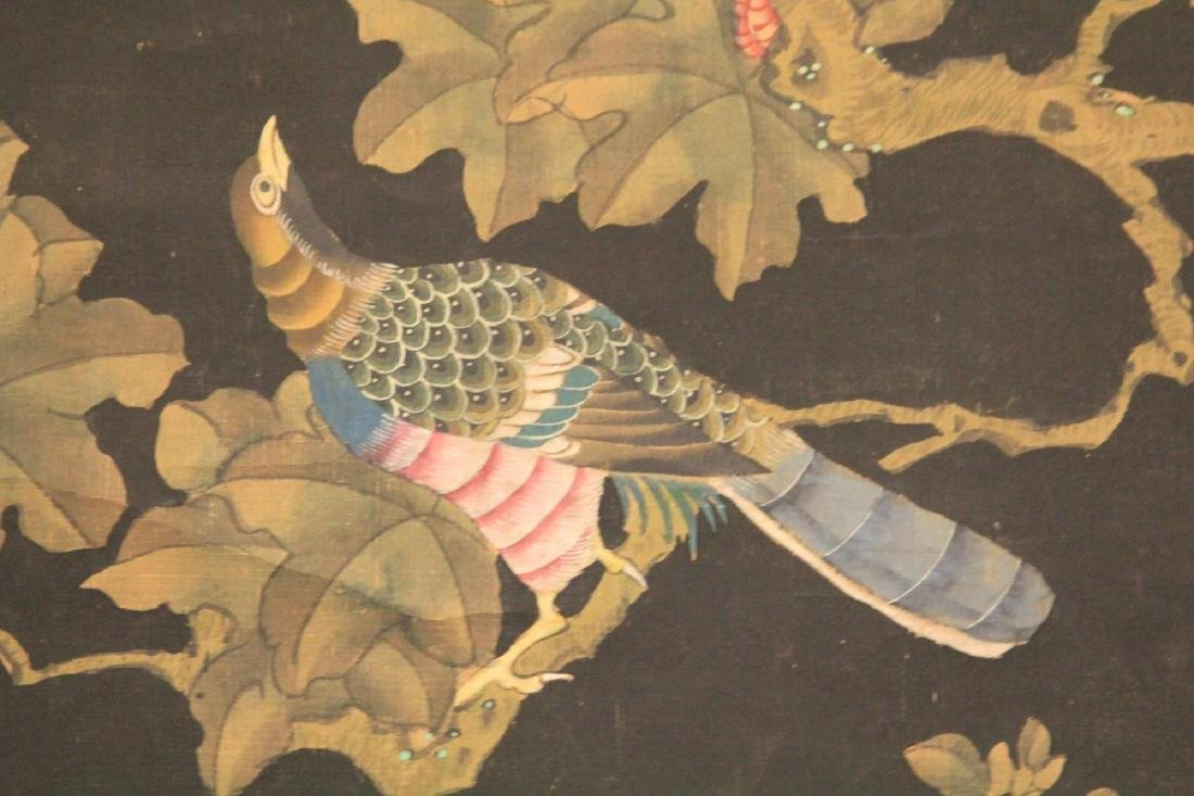 EARLY MING DYNASTY SCROLL PAINTING OF BIRDS - 3