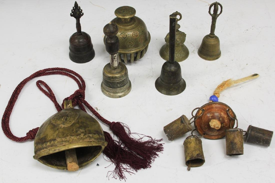 LOT OF (8) VINTAGE ASIAN BELLS