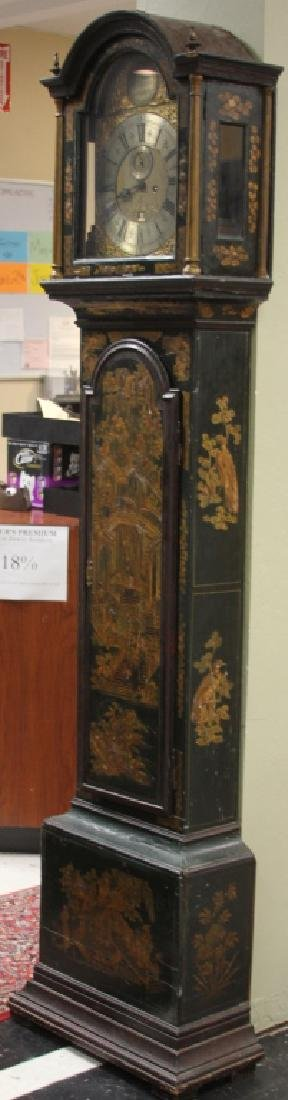 18TH C ENGLISH CHINOISERIE PAINTED TALL CASE CLOCK - 2