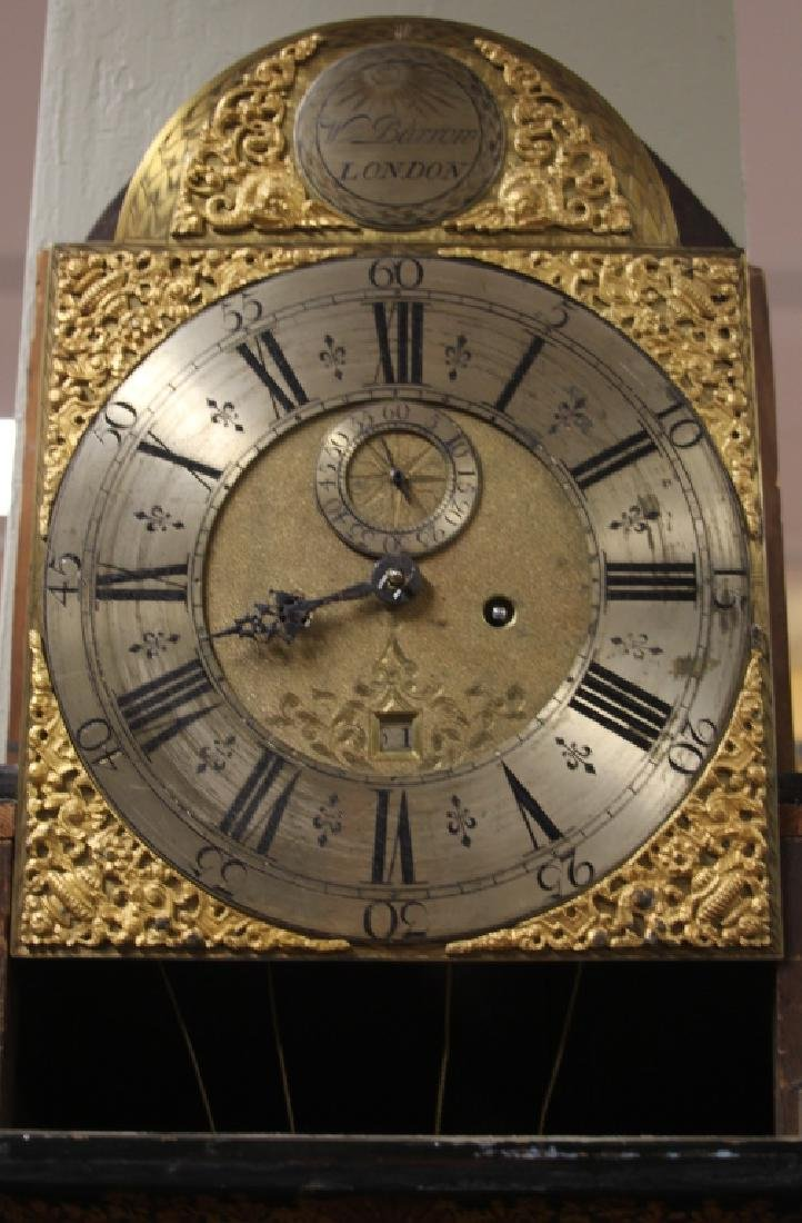 18TH C ENGLISH CHINOISERIE PAINTED TALL CASE CLOCK - 5