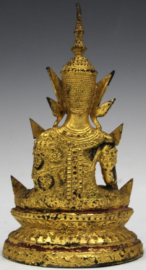 "GILT BRONZE SEATED SIAM FIGURE, 8"" H - 2"
