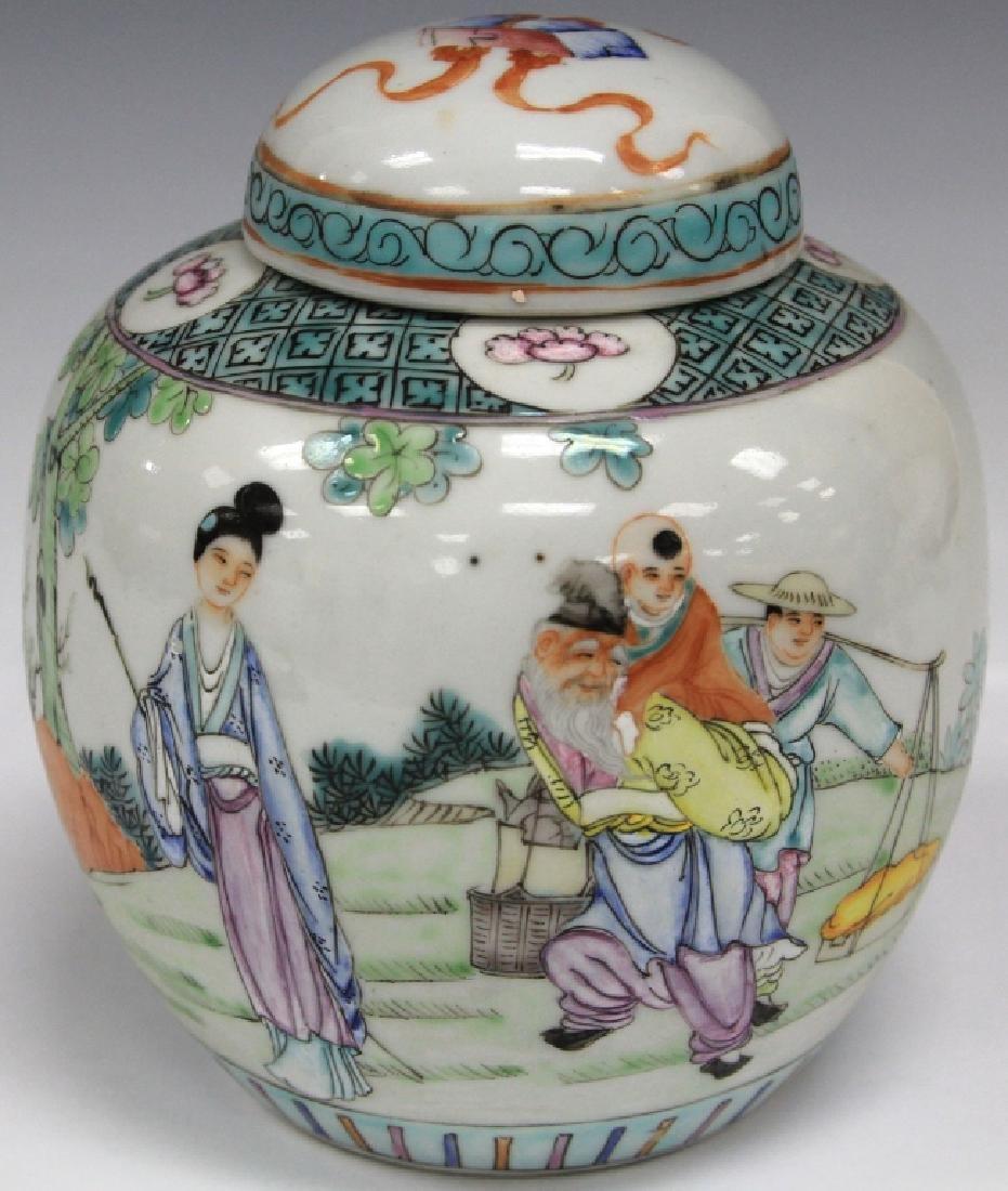 VINTAGE CHINESE PAINTED PORCELAIN JAR