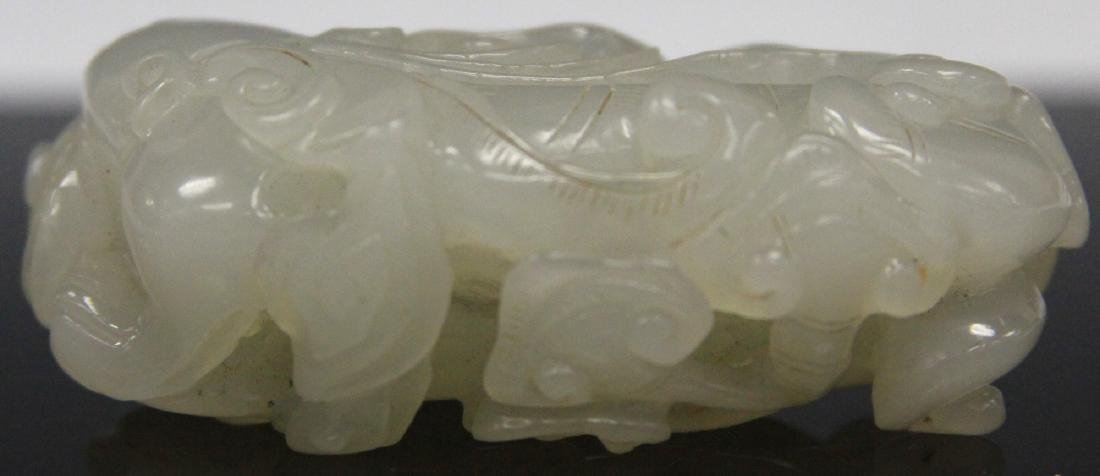 """CHINESE CARVED JADE PENDANT, 2 3/4"""" L - 2"""