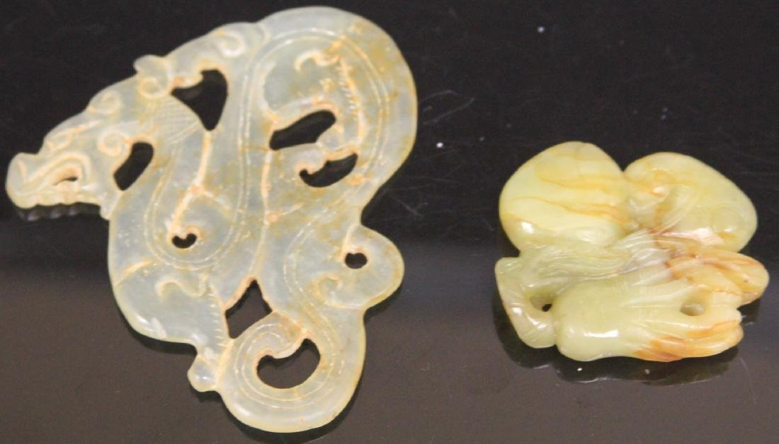 LOT OF (2) CHINESE JADE CARVINGS - 2