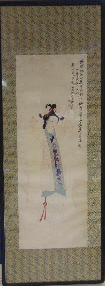 DAQIAN ZHANG (1899-1983), WATERCOLOR, FRAMED