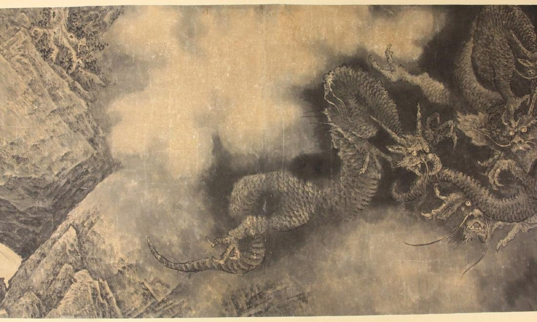 CHINESE WATERCOLOR SCROLL PAINTING, ARTIST SIGNED - 8