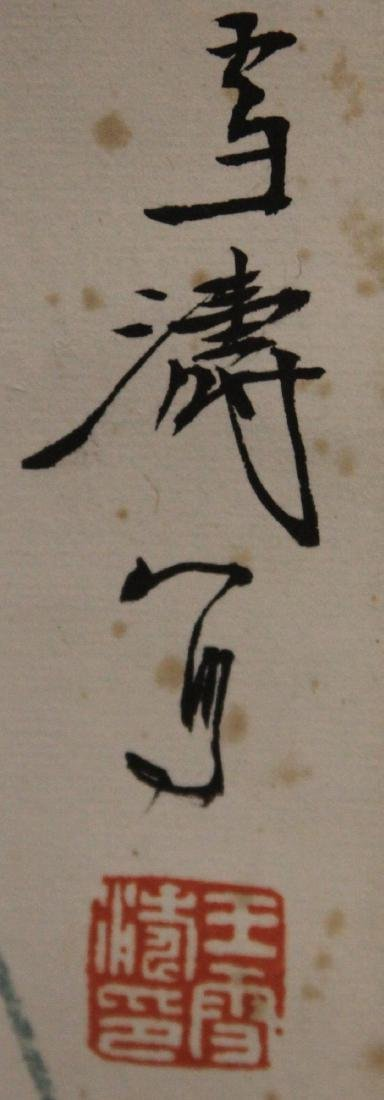 CHINESE WATERCOLOR SCROLL PAINTING, ARTIST SIGNED - 3