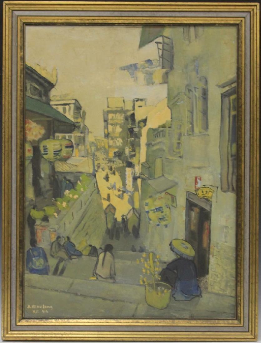 J. MOULENG, HONG KONG, 1946, OIL ON CANVAS