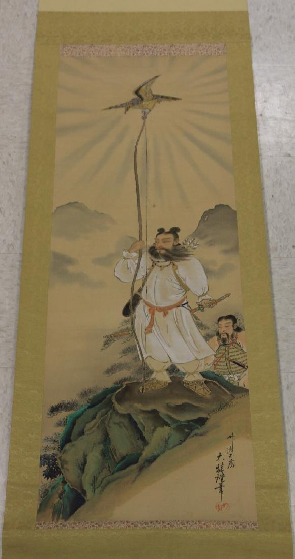 VINTAGE JAPANESE SCROLL PAINTING