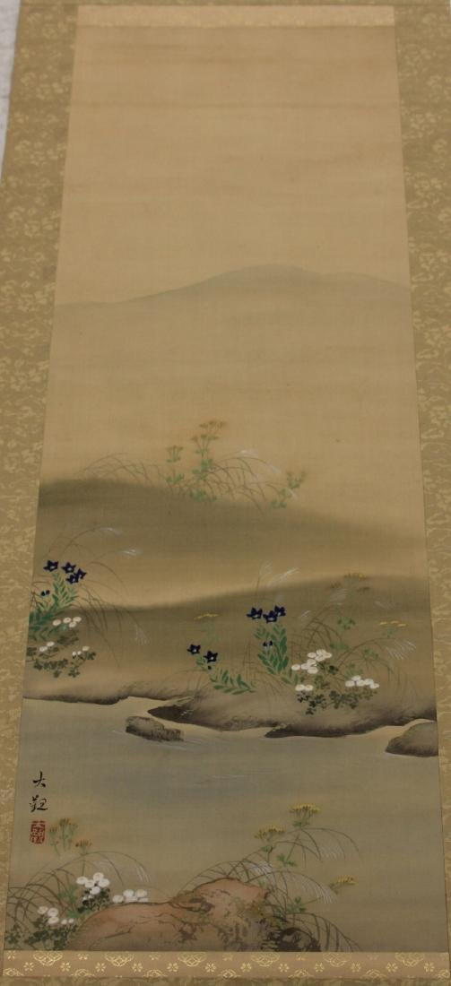 PAIR OF CHINESE SCROLL PAINTINGS - 3