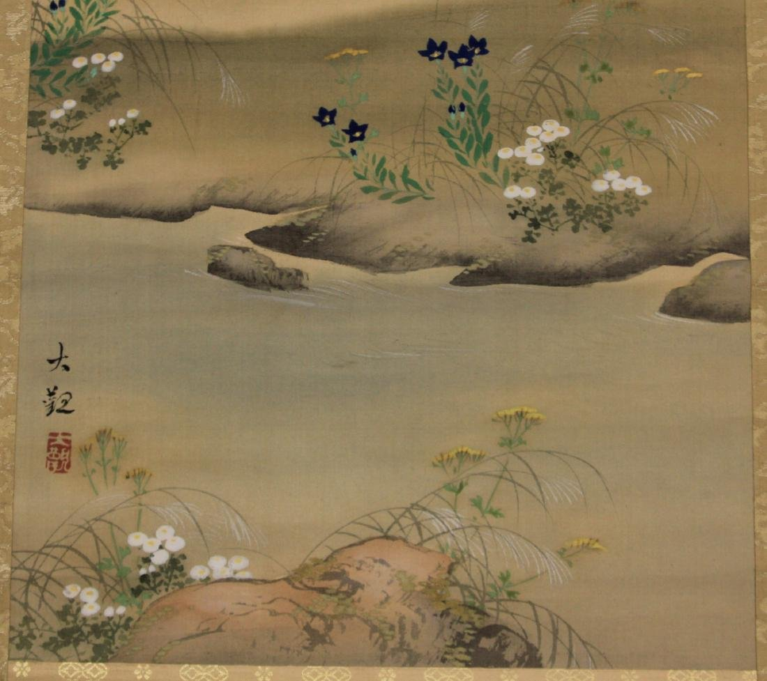 PAIR OF CHINESE SCROLL PAINTINGS - 4