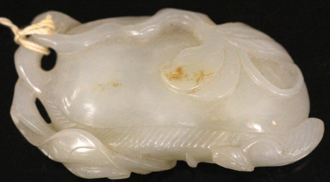 19TH C. CHINESE CARVED JADE PENDANT - 6