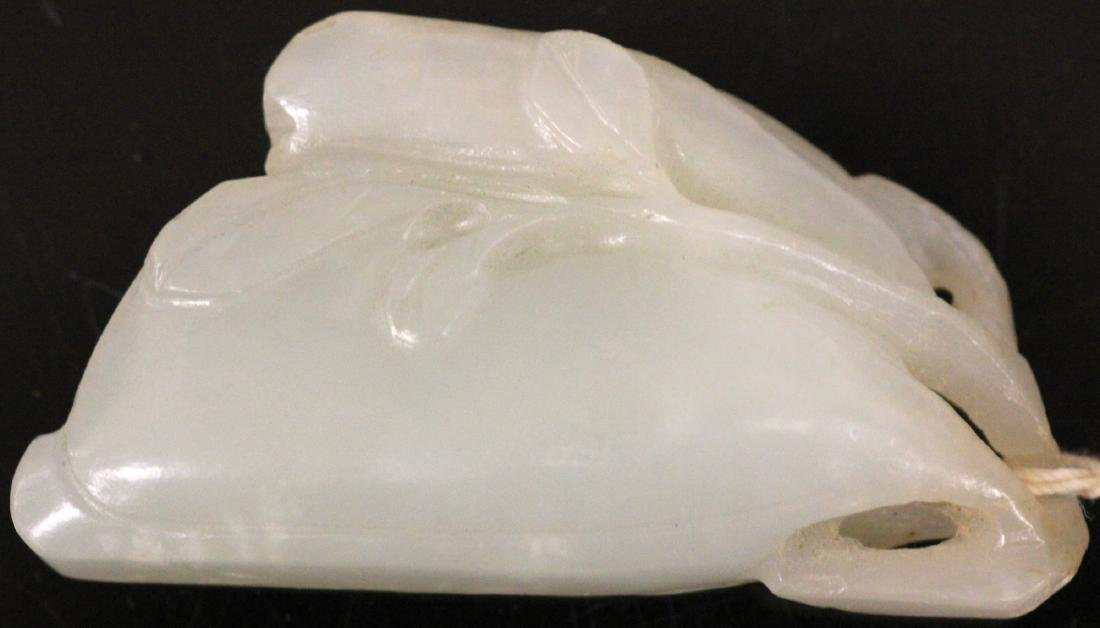 19TH C. CHINESE CARVED JADE PENDANT