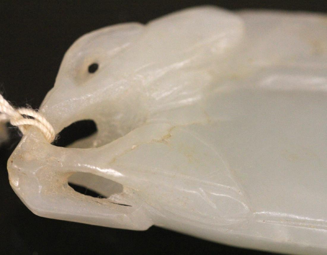 19TH C. CHINESE CARVED JADE PENDANT - 5