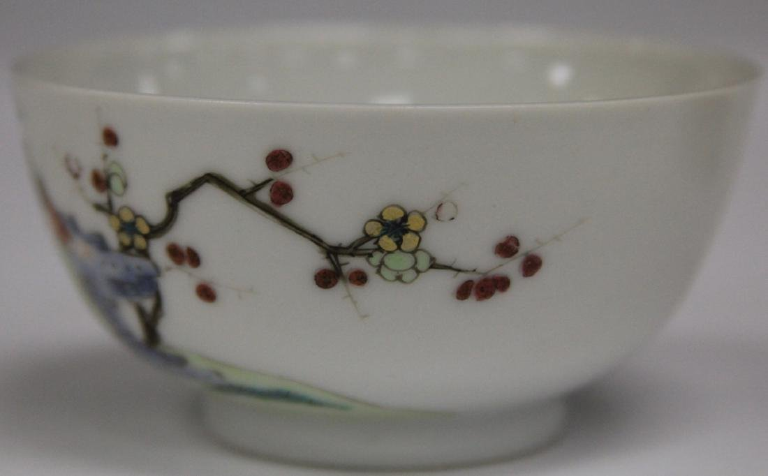 PAIR OF 19TH C. CHINESE PORCELAIN CUPS/SAUCERS - 2