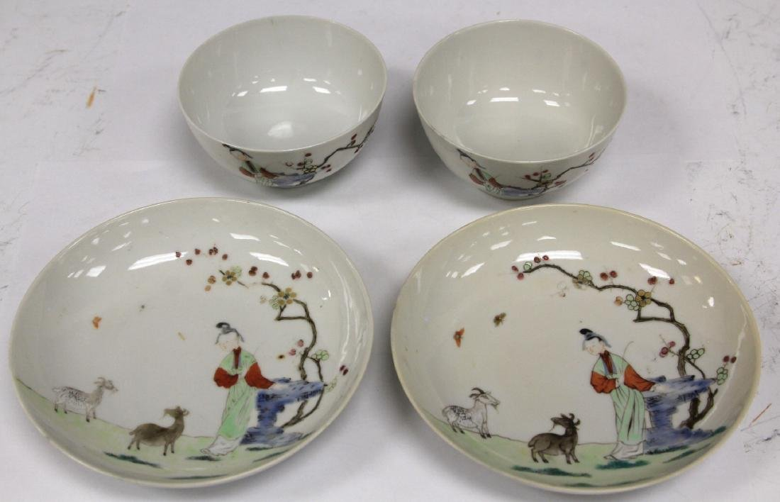 PAIR OF 19TH C. CHINESE PORCELAIN CUPS/SAUCERS - 5