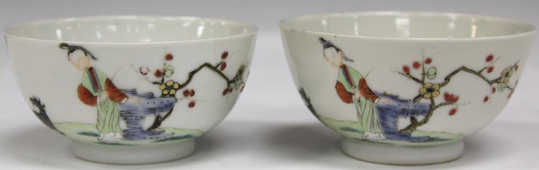 PAIR OF 19TH C. CHINESE PORCELAIN CUPS/SAUCERS - 8