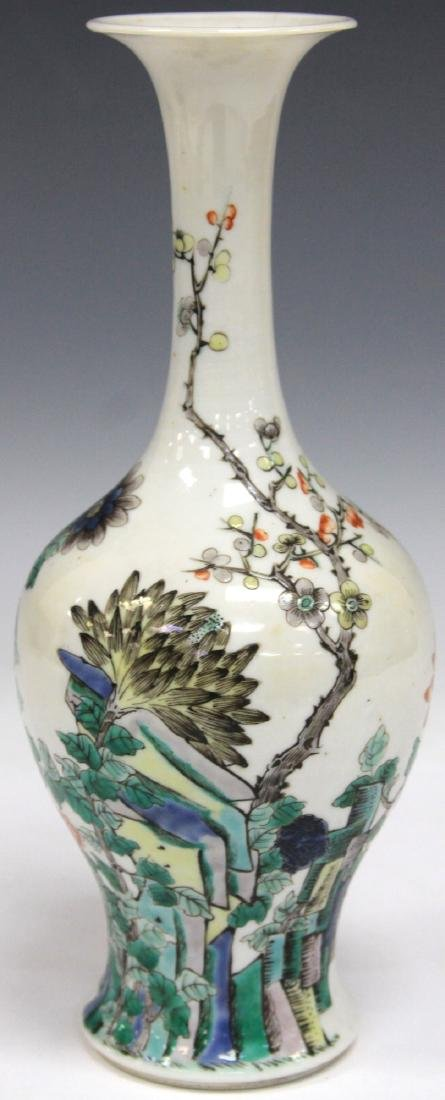 "QING DYNASTY PAINTED VASE, 9 1/4"" H"