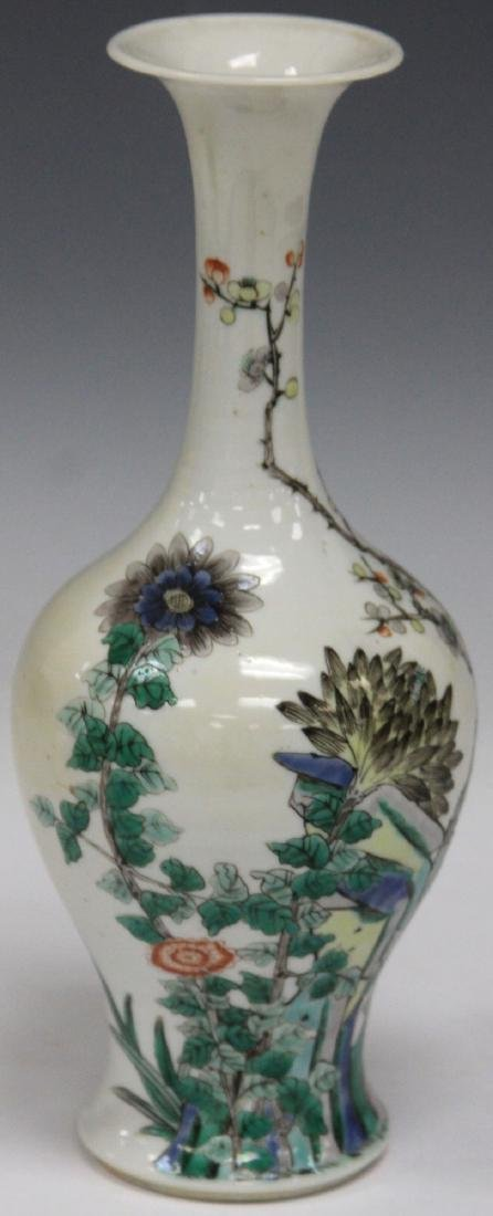 "QING DYNASTY PAINTED VASE, 9 1/4"" H - 2"