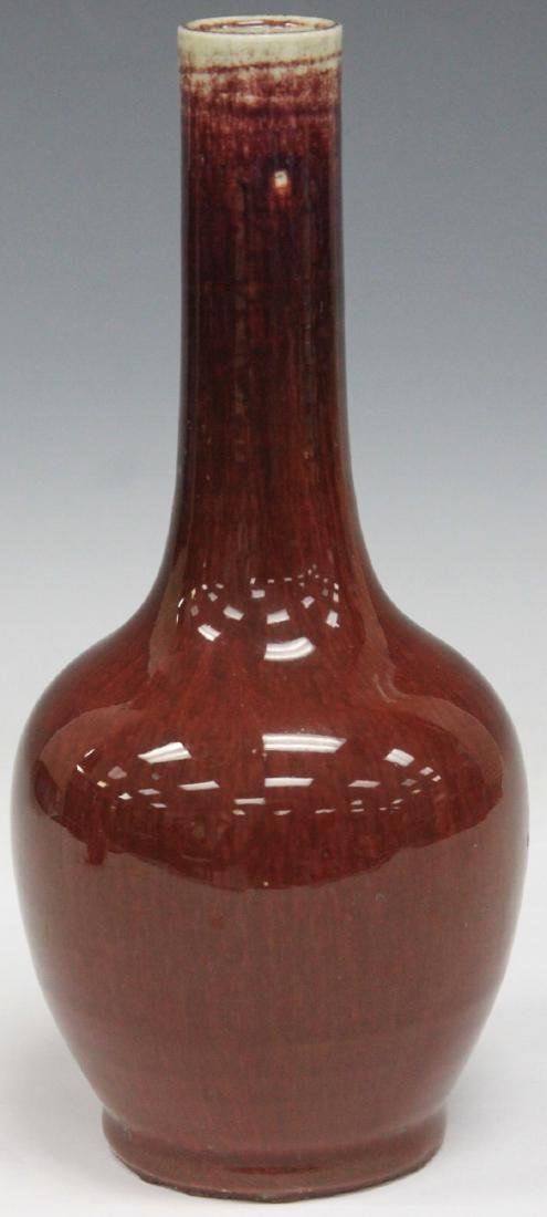 QING DYNASTY  PLUM FLAMBE POTTERY VASE